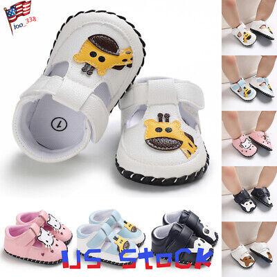 Baby Casual Flat Cartoon Shoes Lovely Animals Giraffes Soft Crib Boys Girls - Giraffe Infant Crib