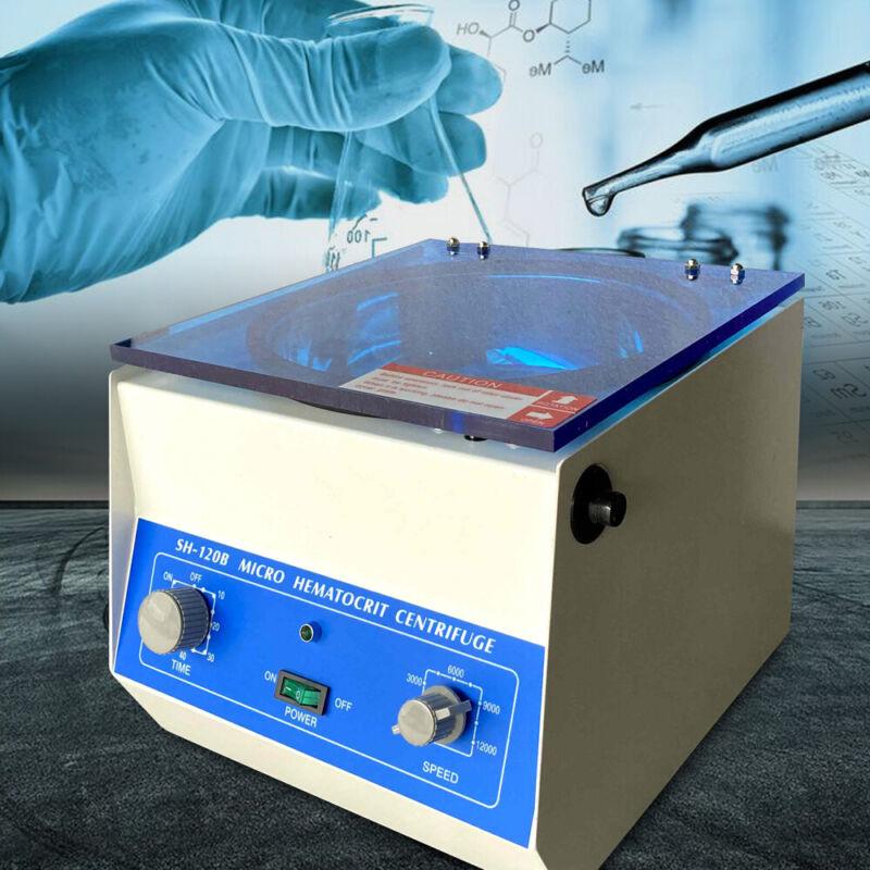 High Speed Microhematocrit Centrifuge Electric Lab Centrifuge 1500-12000 RPM USA
