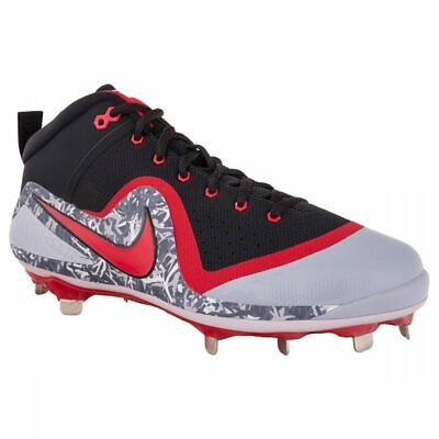 e17d37625 Nike Force Zoom Trout 4 sz 12 Black Grey Red 917837 060 Metal Baseball  Cleats