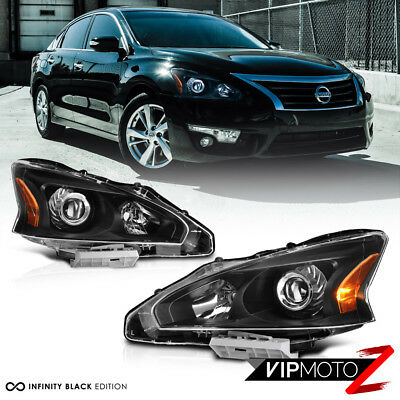 For 13-15 Nissan Altima {FACTORY STYLE} Black Projector Headlight Lamp Assembly