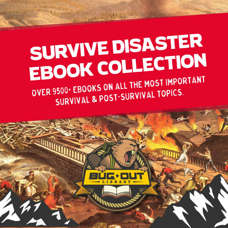 Huge Survive Disaster 9500+ Ebook Collection! Energy, Survival Tactics, NO FLUFF