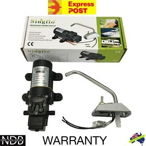 12V Galley Electric Water Pump Tap Faucet KIT Caravan Boat EXPRESS & WARRANTY