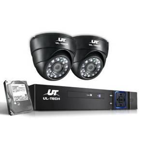 1080P CCTV Security System 2 Dome Camera Q5XYO-CCTV-4C-2D-BK-T