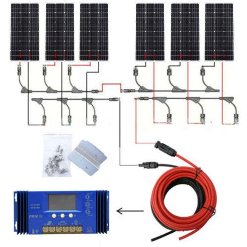 ECO 1KW 200W 500W 100W 12V Solar Panel System w/ Controller