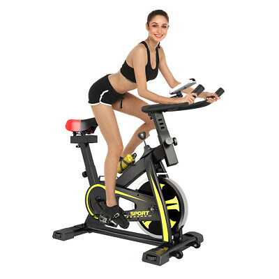 Spinning Exercise Bike Indoor Cardio Workout Machine with 10KG Flywheel