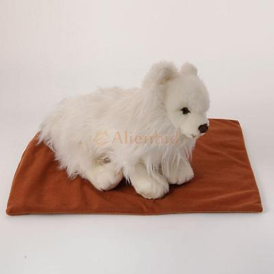 """Hot Sell Warmer Dog Cat Rabbit Reptile Heated Bed Pad 110V~240V Brown 11""""x15"""""""