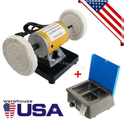 Ce Dental Lab Mini Polishing Polisher Equipment Machine Lathe Desk Wax Heater