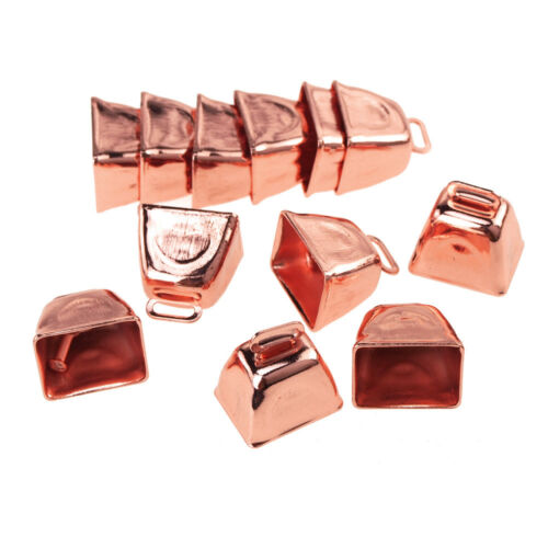 Small Metal Cowbells, Rose Gold, 1-Inch, 12-Piece