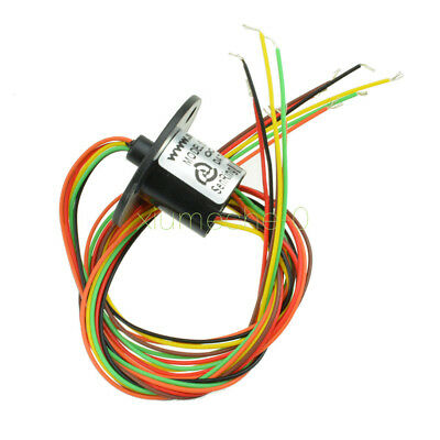 12.5mm 300rpm 6 Wires Circuitsx2a Capsule Slip Ring Ac 240v For Monitor Rob