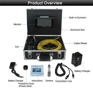NEW 100 FT 7 IN LCD SCREEN SEWER CAMERA DRAIN PIPE INSPECTION CAMERA USAC0101