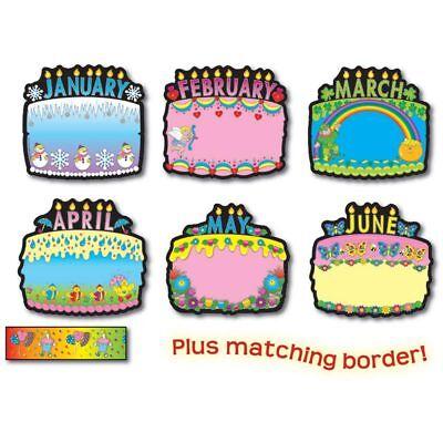 Birthday Cakes Bulletin Board Set Carson Dellosa CD-1726