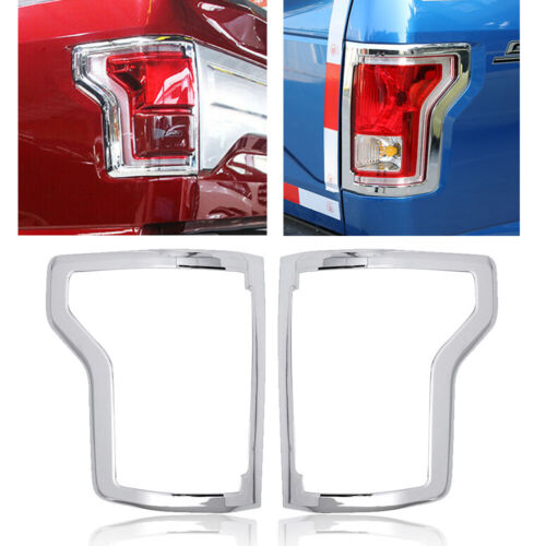 Chrome Auto Rear Tail Light Lamp Bezel Cover Trim Frame for Ford F150 2016 2017