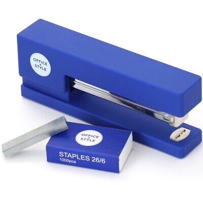 Office Style Precision Jam-free Full Strip Non-skid Stapler Blue