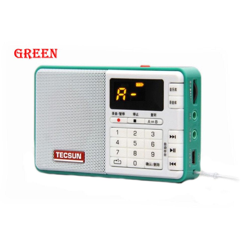 TECSUN Q3 Pocket Radio FM stereo Recorder MP3 Player Support