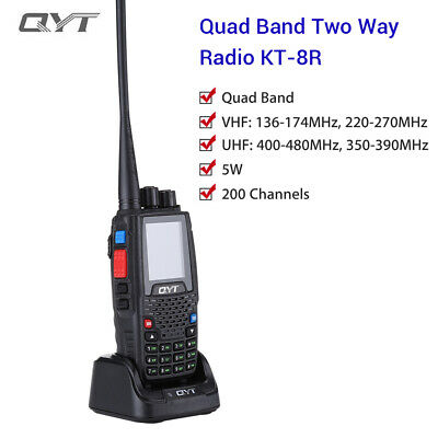 QYT KT-8R Mobiles Quad-Band UKW / UHF-Funkgerät FM Ham Outdoor Intercom 2000mAh 2000 Mah Mobile