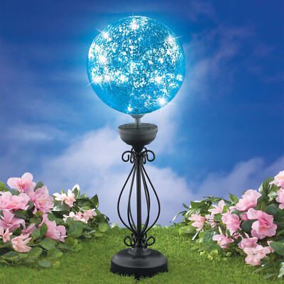 Yard Solar Lighted Stake Outdoor Gazing Ball Decoration Garden Lawn Ornaments