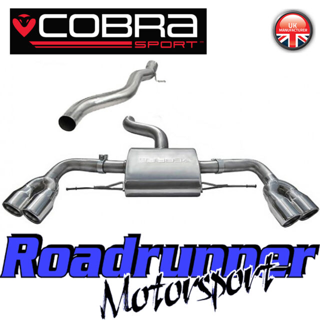 """Cobra Sport Audi TTS MK2 TT Coupe Cat Back Exhaust System Stainless Non Res 3"""""""