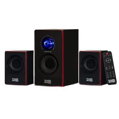 Stereo Bass System Home Audio Shelf Sound Speakers Radio Wireless Bluetooth New