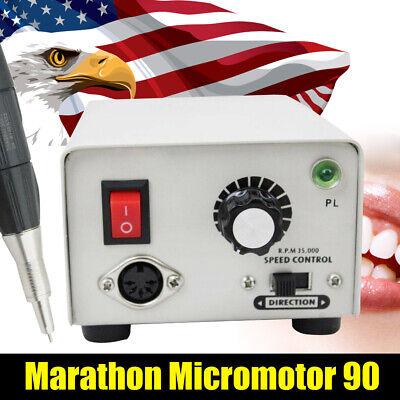 Dental Lab Micromotor Marathon Strong 90 Micro Motor Polisher Handpiece 2.35mm