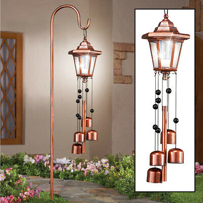 Outdoor Solar Lighted Lantern Yard Wind Chime Decoration Garden Path Lawn Lights Lighted Lawn Decorations