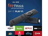 Amazon Fire tv stick with Alex's voice control and Kodi 17.5
