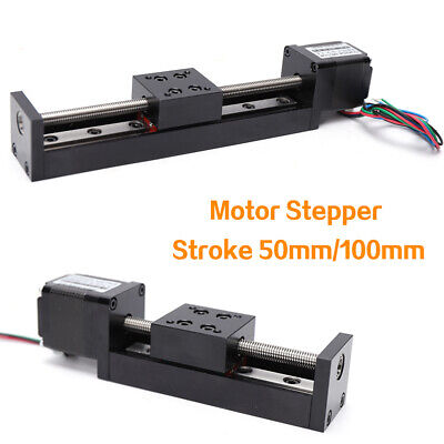 T6 Leadscrew Linear Stepper Stroke Cnc Slide Stage Actuator Mini 0.6a Two Choice