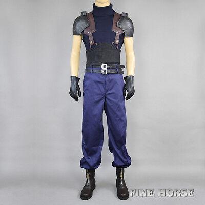 FF Final Fantasy 7 VII Zack Fair Zax Cosplay costum Kostüm mit Schuhe full set
