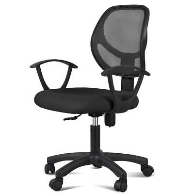 Adjustable Swivel Office Chair Mid-back Mesh Computer Desk Chair Warms Backrest