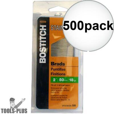 Bostitch Bt1350ss 500 Pack 2 18 Ga Stainless Steel Brad Nails New