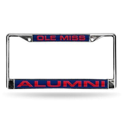 Mississippi Ole Miss Rebels Alumni Chrome Metal Laser Cut License Plate Frame Alumni Chrome Frame