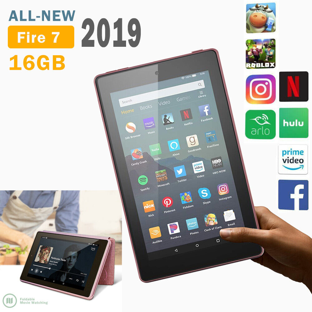 2019 Amazon Kindle Fire 7 Tablet pc  16GB with Alexa