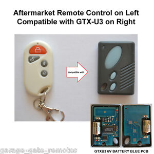 garage door remote control compatible with gliderol GTXU3 GTX-U3 GTXU3-1