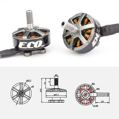 2306 Series - Emax ECO Series 2306 - 1700kv Brushless Motor for RC FPV Racing Drones G5U6
