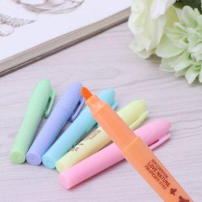 Color Maker Fluorescent Marker Line Pens Highlighter Pen School Stationary