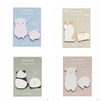5pcs Cute Animal Stationery Paper Sticky Notes Memo Label Sticker Notepad