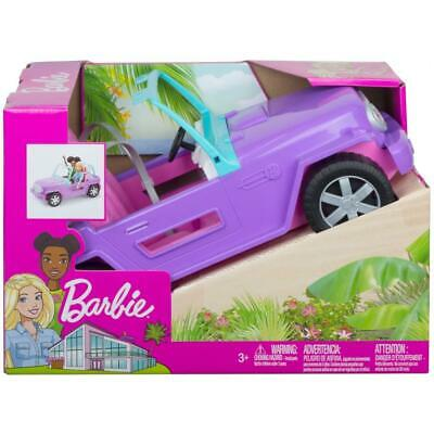 Barbie Estate Vehicle Purple Jeep with Rolling Wheels; Seat Belts Ages 3+ (NEW)