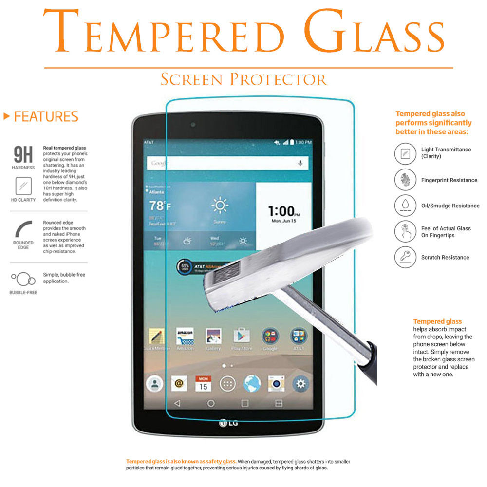 2X Tempered Glass Screen Protector for LG G Pad F2 8.0//LG G Pad X2 8.0 PLUS V530