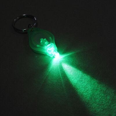 Green Ray LED Keychain Light Night Fishing Dual Switch Green Beam Keyring Lamp
