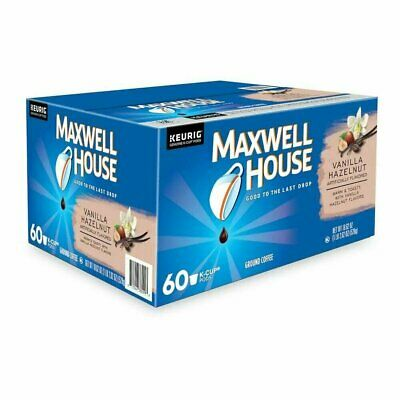 Maxwell House Vanilla Hazelnut Medium Roast K-Cup Coffee Pods 60 Count