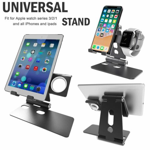 Spessn Compatible Phone Wireless Charging Stand & Apple Watch Charging Stand Holder 2 in 1 Charging Dock Tablet Stand for Apple Watch 1 /2 / 3, iWatch/ iPhone X / 8 Plus / 8 /7 Plus  2