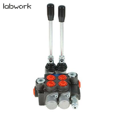 Hydraulic Monoblock Double Acting Control Valve 11 Gpm 2 Spool Sae Ports