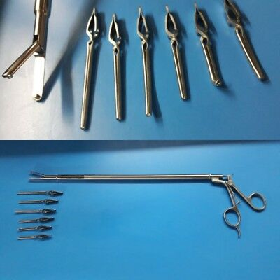 Laparoscopic Laparoscopy Instruments 6 Clip Precise Bulldog Clamp Forcep 10mm