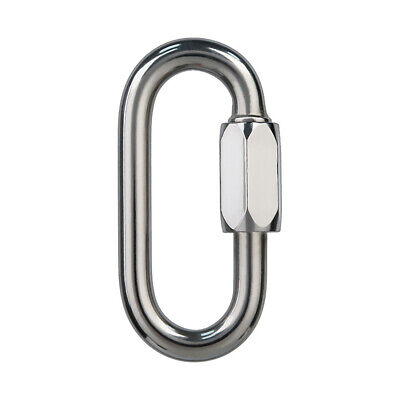 Stainless Steel Oval Shape Quick Link Chain Fastener Screw Locking Carabiner New Stainless Steel Quick Link