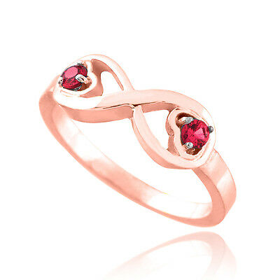 Claddagh Gold Rose Gold Infinity Birthstone Cz Infinity R...