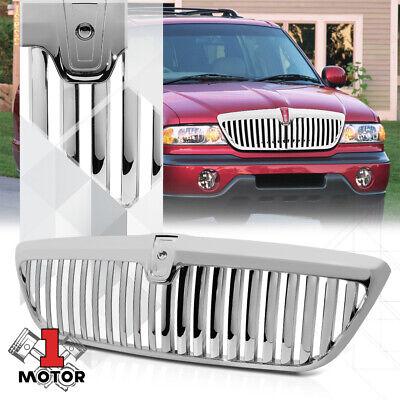 Chrome Vertical Bar Billet Front Bumper Grille/Grill for 98-02 Lincoln Navigator