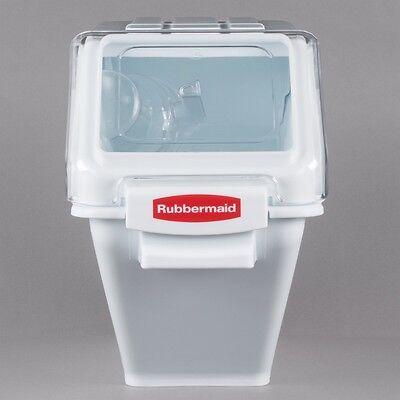 Rubbermaid 6.3 Gallon ProSave Shelf Ingredient Storage Bin with 2 Cup Scoop