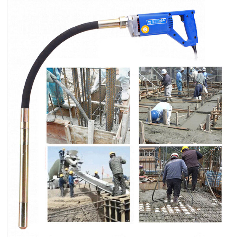 13000VPM Hand Held Electric Concrete Vibrator Remove Air Bubbles W/ 3.9Ft Shaft