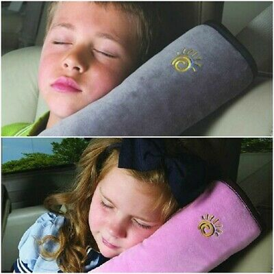 Car Pillow Neck Seat Headrest Toddler Kid Belt Travel Support Pad Cushion