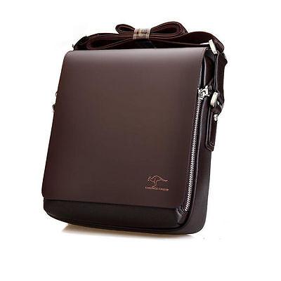 Adjustable Men's Genuine Leather Handbag Briefcase Shoulder Messenger Bag Small