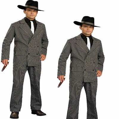 Herren Gangster Boss Kostüm 1920s Mafia Nadelstreifen Anzug - Gangster Outfits